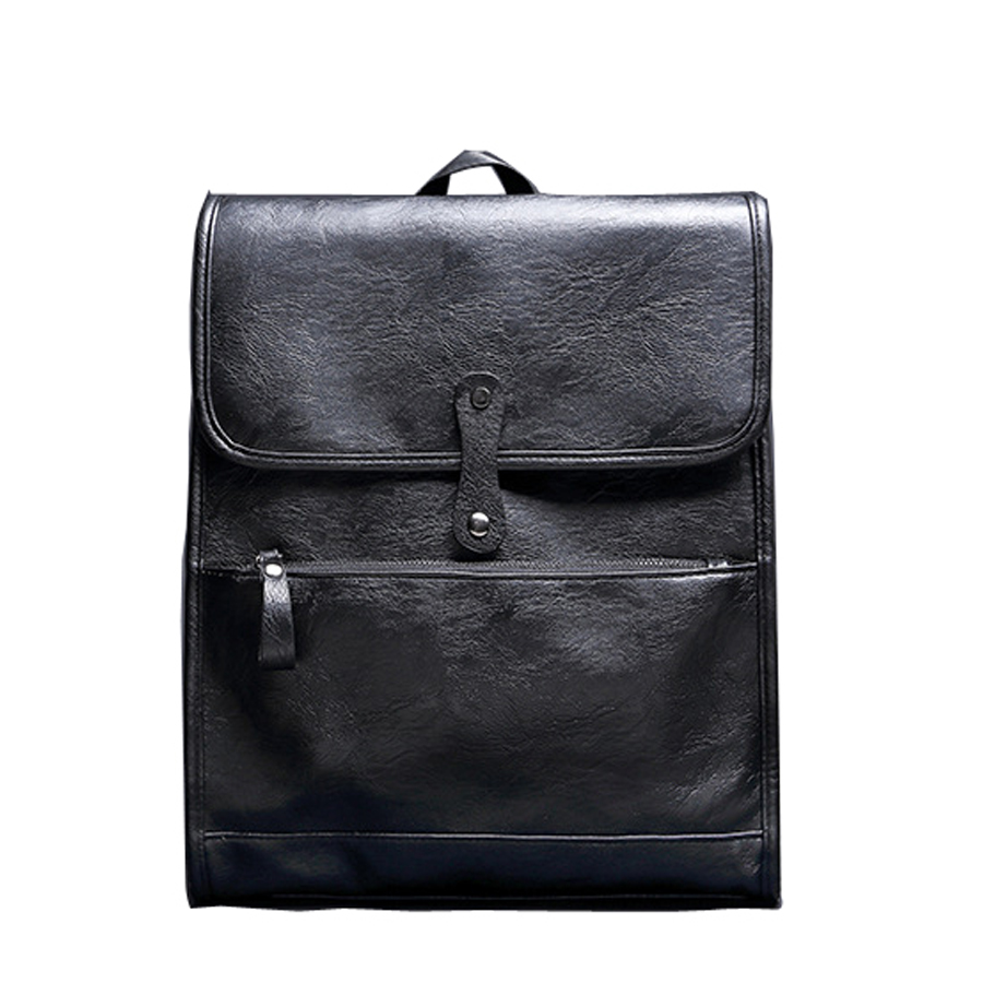 2016 new men s shoulders bag business leather backpack computer academy high school students leisure backpacks
