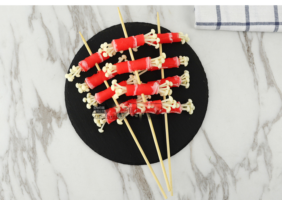 050 Simulation of food gourmet dish dishes model barbecued hand fried mushrooms beef string Flammulina velutipes beef string in Artificial Foods Vegetables from Home Garden