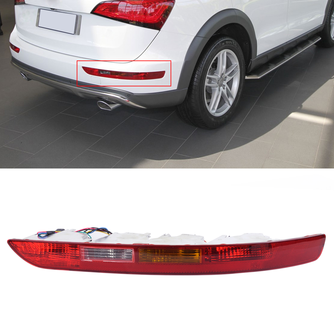 CITALL 8R0945096 Rear Right Side Lower Bumper Tail Light Lamp Reverse Fog Lamp Acc for Audi Q5 2009 - 2012 2013 2014 2015 2016 runmade front lower driving fog light for 2012 audi a4 b9 right side with h8 35w 12v bulbs l8kd 941 700a