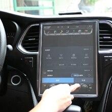 Protector de pantalla Invisible Anti huella digital HD Control central de la película de navegación del coche Ultra fino a prueba de arañazos para el modelo 3 de Tesla