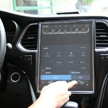 Ultra Thin รถนำทางฟิล์ม Center Control HD Anti ลายนิ้วมือที่มองไม่เห็นหน้าจอ Protector Scratchproof สำหรับ Tesla รุ่น 3