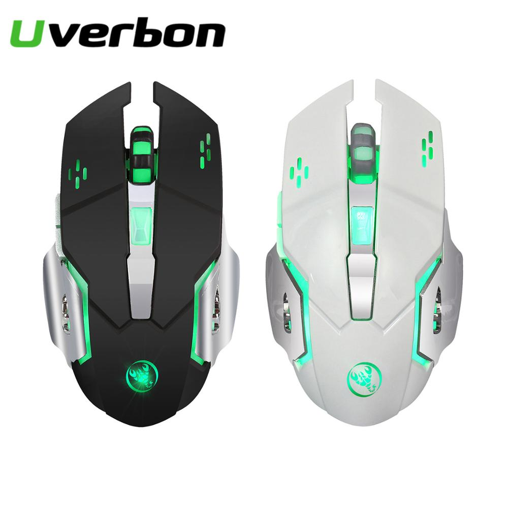 Wireless Gaming Mouse Rechargeable Mice with LED Breathing Backlit Lights