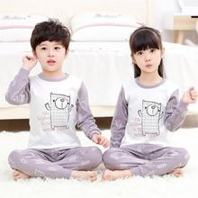 Pajamas-Sets Homewear Baby-Girls Kids Boys Cotton Cartoon Children 3-14Y