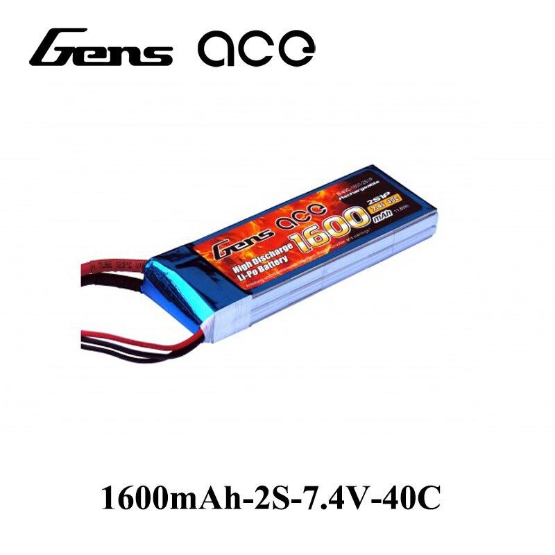 Gens ace 2S 7.4V 1600mAh 40C Lipo