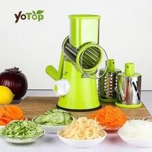 Yotop зеленый растительное мандолина резки картофеля соломкой морковь резак терка для сыра круглый Нержавеющая сталь лезвия Кухня инструмент