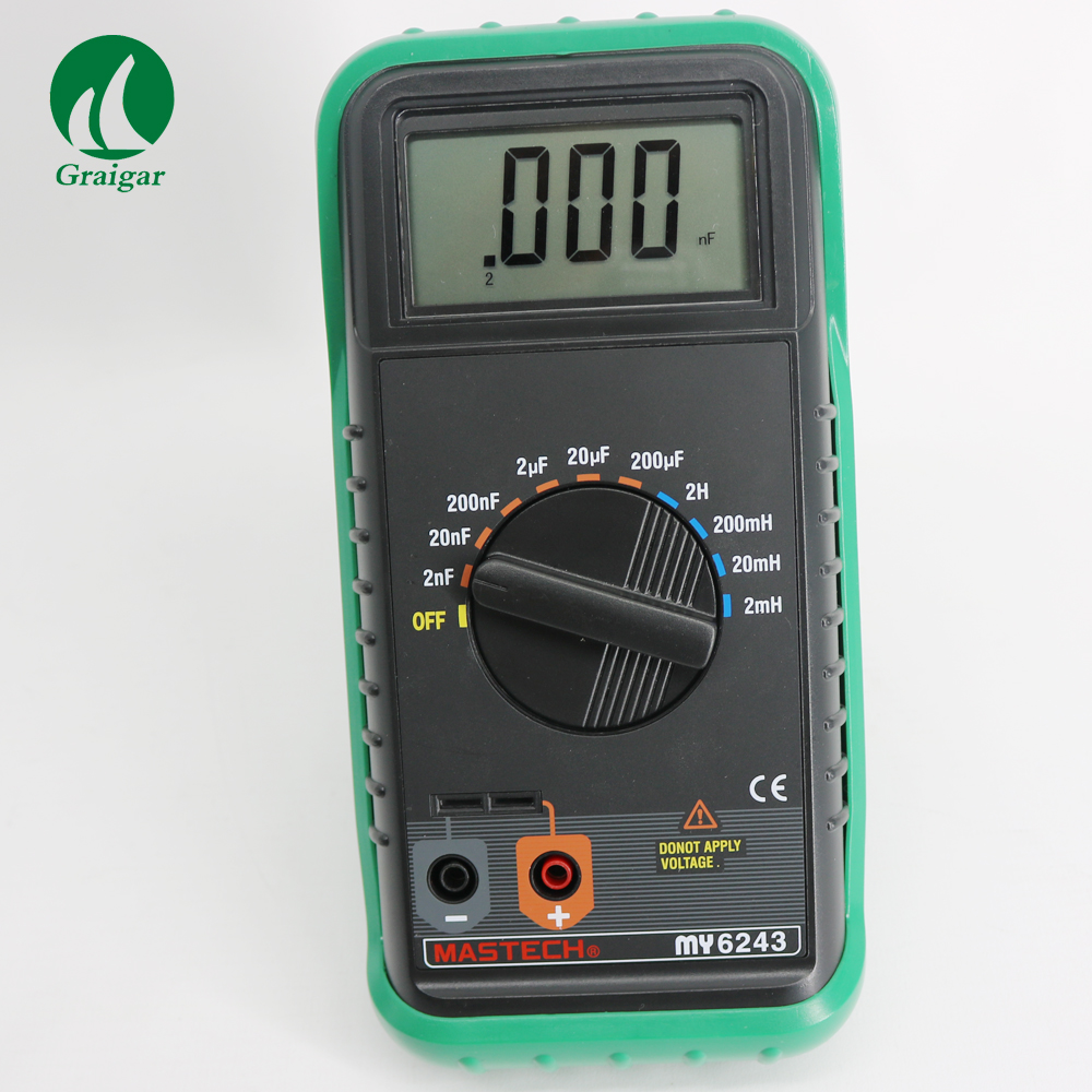 MASTECH MY6243 3 1/2 1999 Count Digital LC C / L Meter Inductance Capacitance Tester