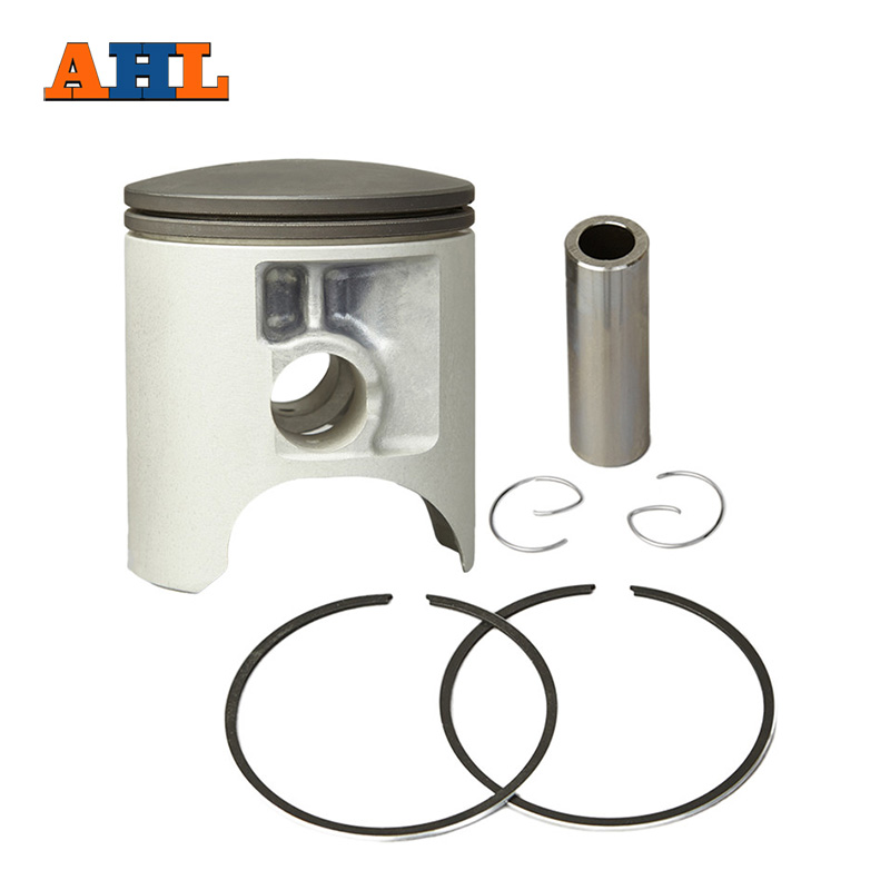 AHL Motorcycle 67mm Piston & Piston Ring Kit Oversize 0.6mm for SUZUKI RM250 RM 250 1996-2008 changchai 4l68 engine parts the set of piston piston rings piston pins