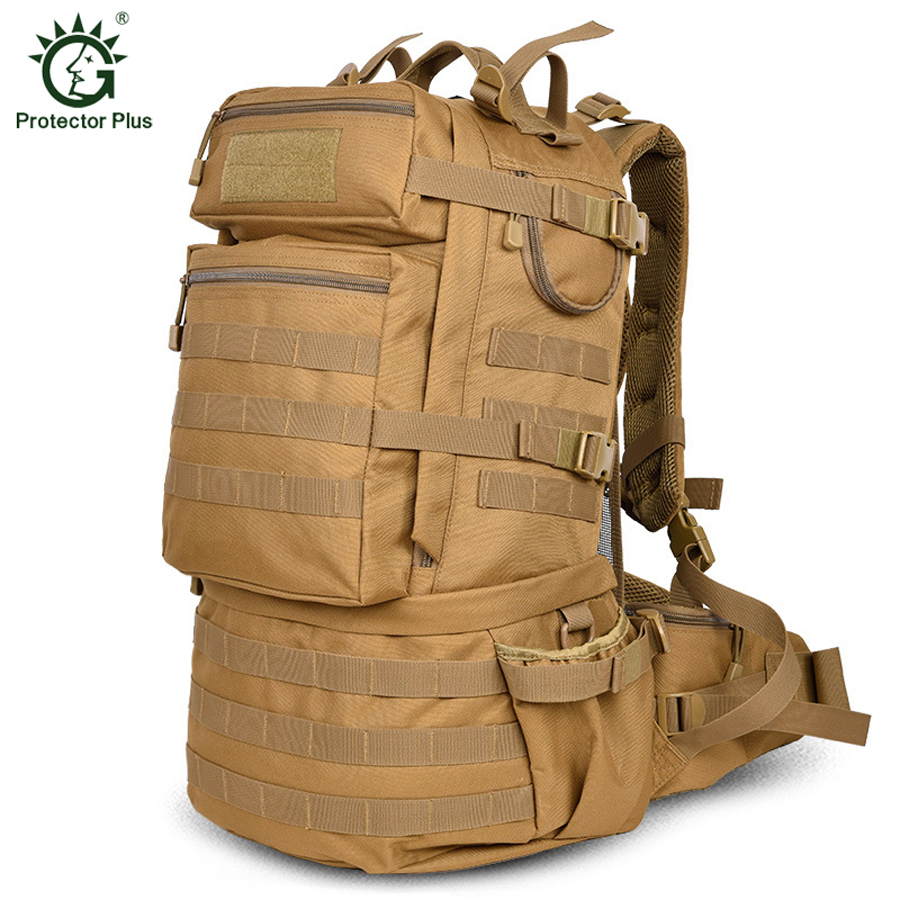 Men Tactical Backpack 50L Men Outdoor Trekking Hiking Travel Backpack Molle USA Army Backpack Large capacity
