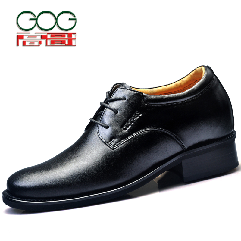 GOG Height Increasing Lifting Shoes Men Leather Oxford Elevator Shoes Taller 10cm цены онлайн