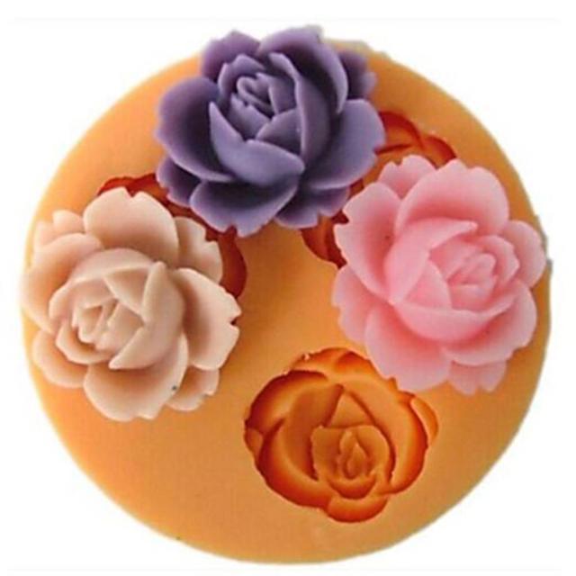 Rose Blume Acryl Harz Fondant Silikon Formen Fur Kuchen Dekorieren