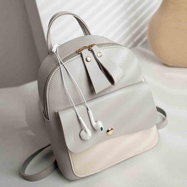 2019 mini backpack para As Mulheres bagpack Moda Ombros Mochila Pequena Carta Bolsa saco Do Telefone Móvel saco do Mensageiro Mochila mochila