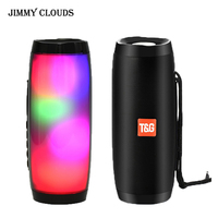 Portable Wireless Bluetooth Speaker LED Boom Box Outdoor Bass Column Subwoofer Sound Box with Mic Support TF FM USB Subwoffer