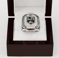 Bán buôn gorgeous chiếc nhẫn bằng đồng với hộp gỗ replica 2012 Los Angeles Kings Stanley Cup mạ bạc World Championship vòng