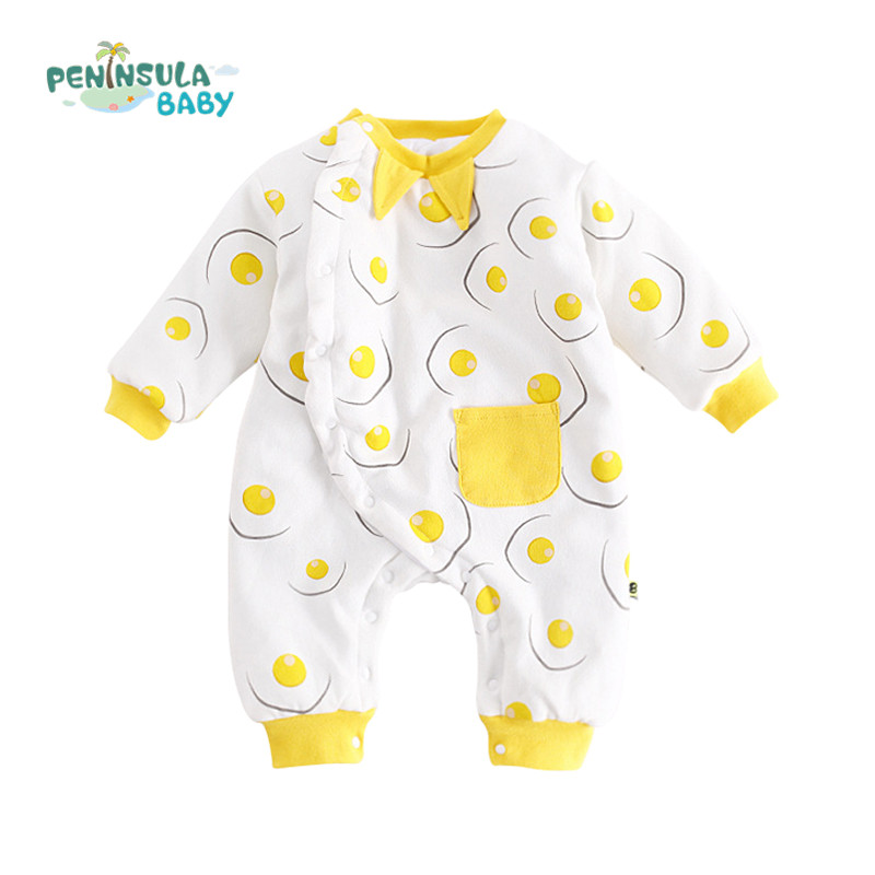 Brand New Cartoon Newborn Girls Boys Rompers Kid O-Neck Jumpsuits Long Sleeve Baby Winter Outfits Clothes Thicker Products Suit hot new autumn fashion baby rompers cotton kids boys clothes long sleeve children girls jumpsuits newborn bebes roupas 0 2 years