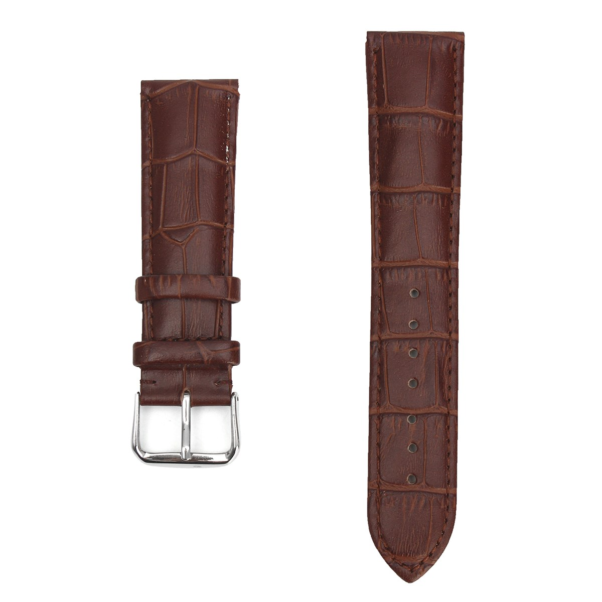 New 22mm Durable Genuine Leather Wrist Watch Strap Belts Stainless Steel Buckle Watchband Men For/BULOVA Watch Accessories durable canvas fabric strap steel buckle wrist watch band 20mm 22mm pin buckle durable replacement watchband nato strap colorful