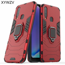 Vivo Y17 Case Shockproof Cover Armor Metal Finger Ring Holder Soft Silicone Hard PC Phone Case For Vivo Y17 Back Cover Vivo Y17