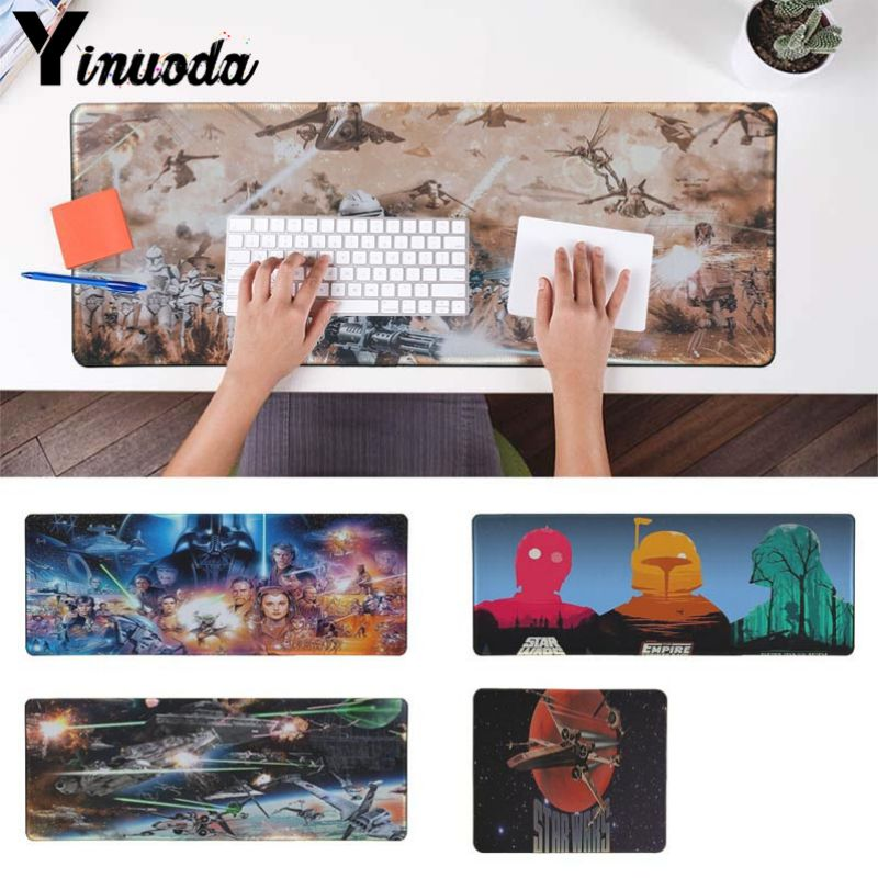 Yinuoda New Printed Star War Unique Desktop Pad Game Mousepad Gaming Mouse Pad Desk Mat for CSGO Game Player PC Computer Laptop image