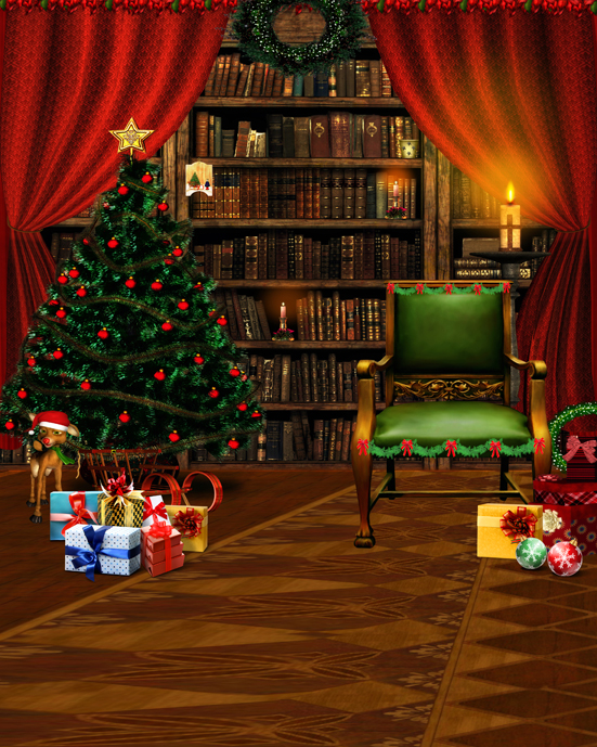 Armchair Christmas Tree Gifts 5x7ft Photo Background Photo Studio Props Christmas Vinyl Backdrops for Photography gramercy кресло severin armchair
