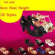 20 Styles 6cm Medium Heel Black Gold Silver Cheap Latin Salsa Tango Dance Shoes / Ballroom Girls Women Ladies