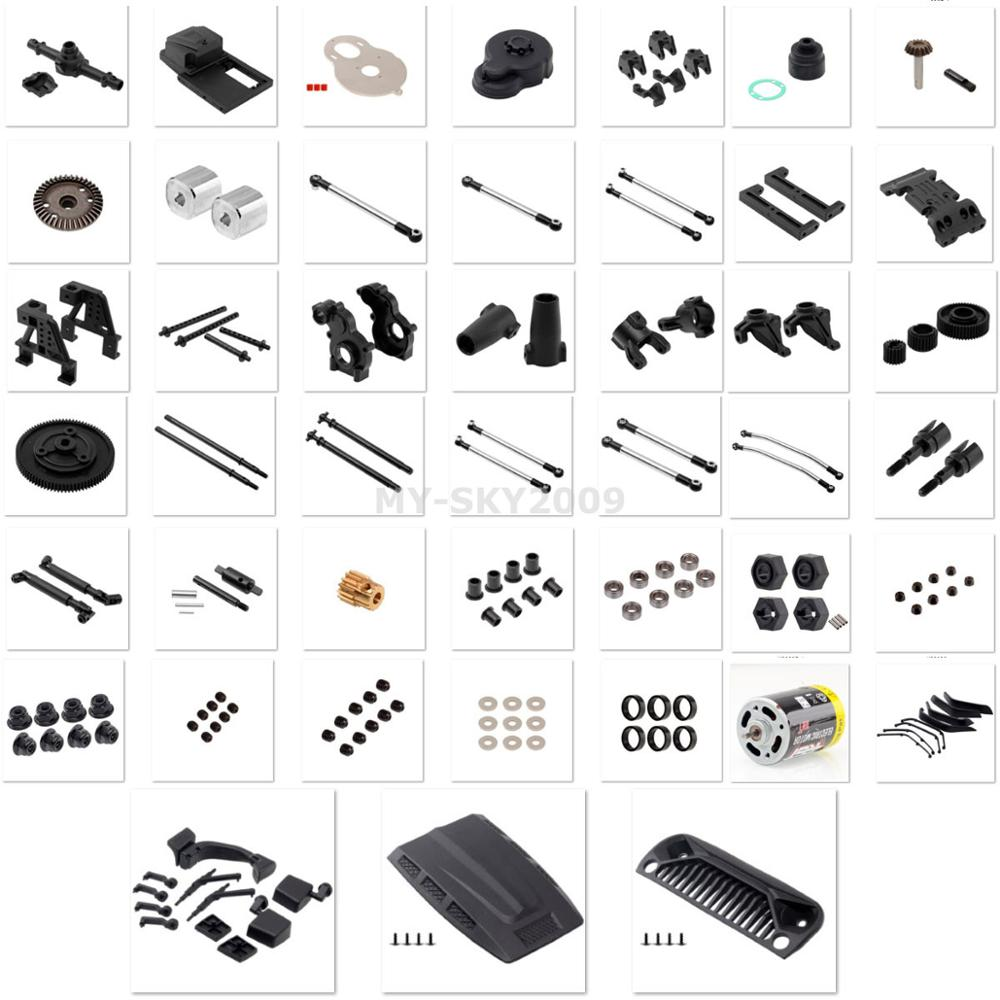 Parts Number R86006 -- R86082 For 1/10th RC Crawler RGT Rock Cruiser EX86100 Spare Parts