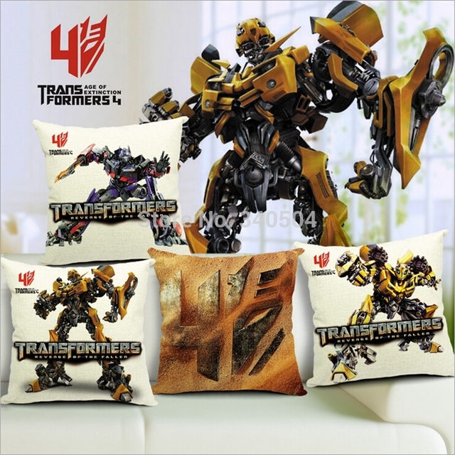 Transformers Cushion Covers Throw Pillow Cases For Sofa Cotton Linen