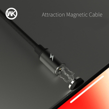 WK Magnetic USB Cable for iPhone Lightning X XS Max 6 7 8 Plus Fast Charging Cable for iPhone 5 5S 5C SE Charger Cargador Cable