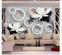 wallpaper murals 3d Home Decoration Simple style black and white embossed flowers painting wallpaper(China)