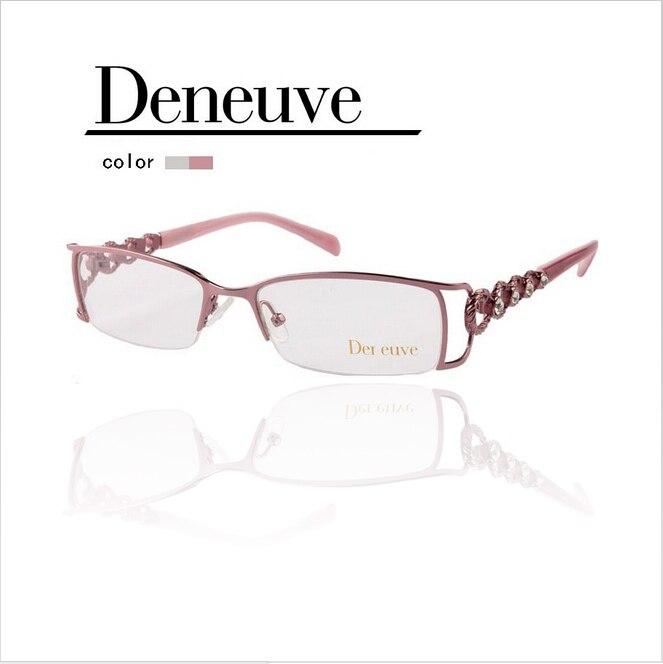 2018 Mode-design, Dame Stil Optische Halb Rand Rahmen, Womem Halb Rand Brillen Rahmen, Freies Verschiffen Für Cpap Dn4404 GläNzend