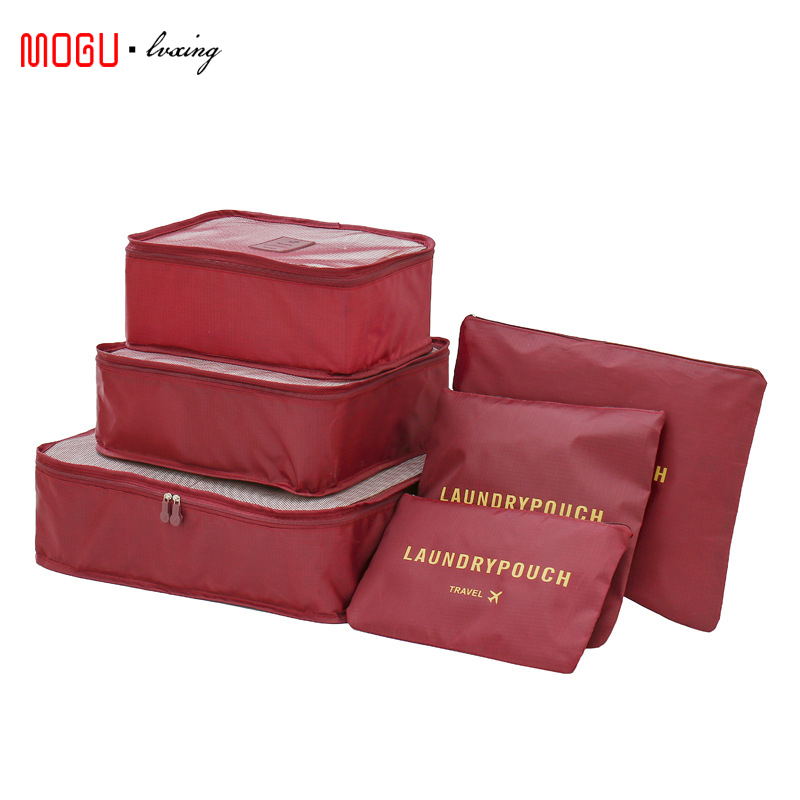 MOGULVXING 6 шт./компл., дорожная сумка для одежды, функциональные аксессуары для путешествий, органайзер для багажа, вместительные сетчатые упаковочные кубики