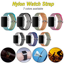 Sports Nylon Strap for Apple Watch Band iWatch Series 1 2 3 4 Colorful 42mm Nylon Woven Replacement Straps Watch Bands 38mm ashei strap for apple watch band 42mm woven nylon series 3 38mm classic buckle replacement strap for iwatch series 2 series 1