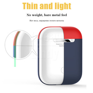Image 2 - 1:1 Original Official Silicone Earphone Case On The For Apple Airpods 1 2 Shockproof Case Cover For Airpods 2 1 Cute Accessories