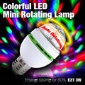 Frete Grátis Colorido E27 3 W 85-260 V Mini Rotating LED Stage/Partido/Dance/KTV/Bar/Salão De Baile Lâmpada EB0207