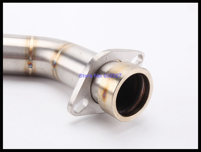 Motorcycle CBR300 Exhaust Full Middle Link Pipe Stainless Steel Motorbike Connect Mid Pipe Escape for CBR300R