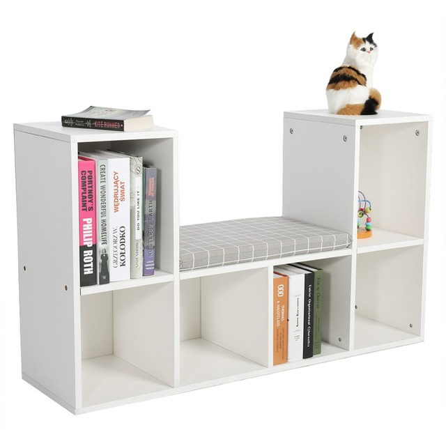 Multi Functional Wooden Storage Shelf Bookshelf Bookcase With