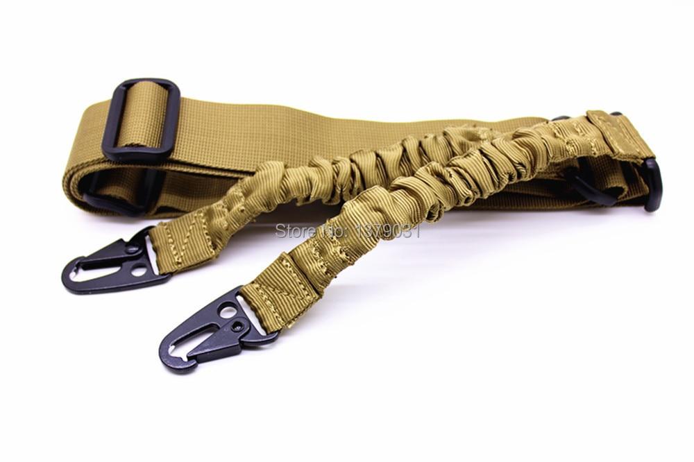 хакі - На відкритому повітрі мисливський тактичний 2-х точковий регульований банджі-стрілецький ремінь