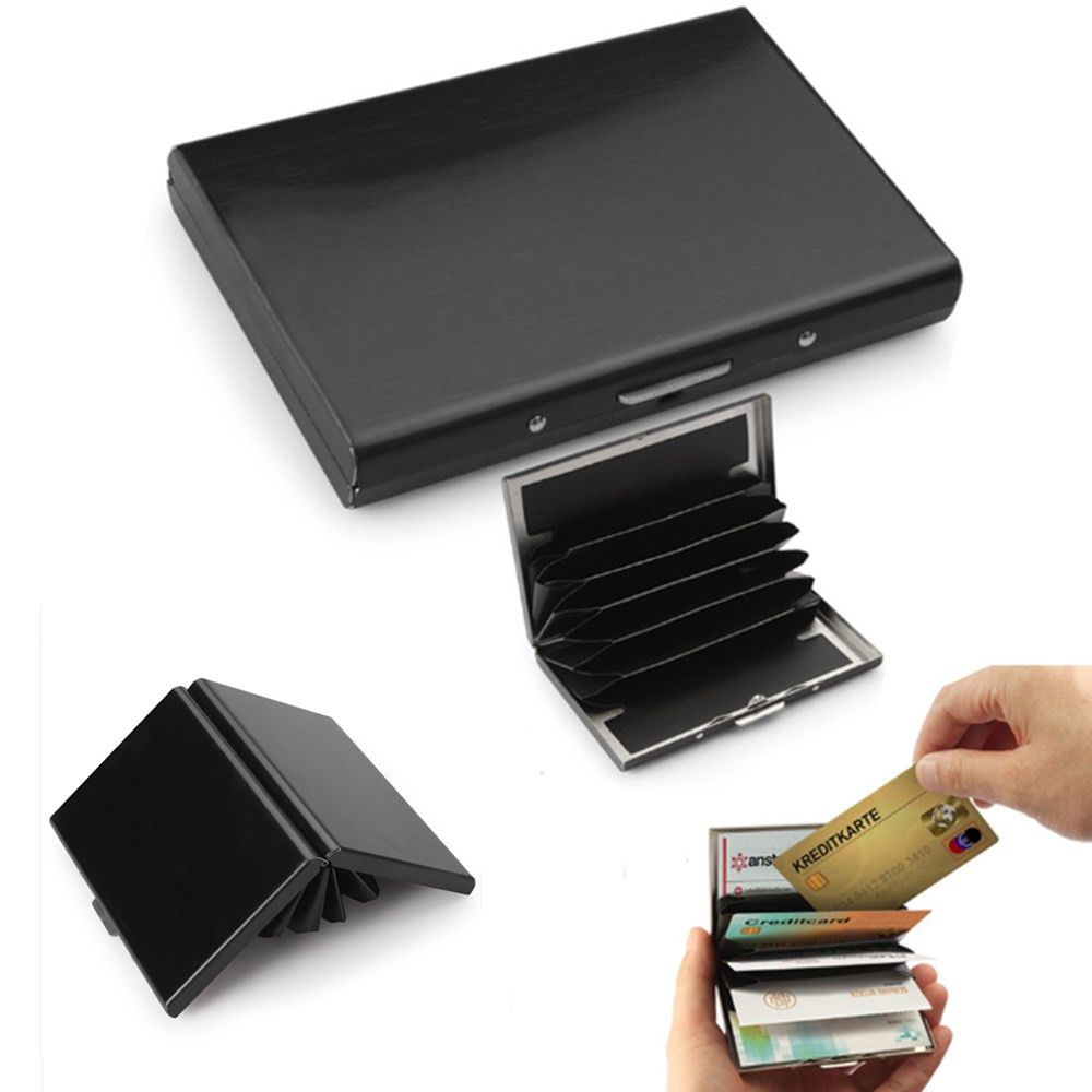 RFID Blocking Wallet Anti-Scan Contactless Credit Card Holder Stainless Steel