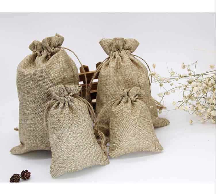 Vintage Retro sznurek jutowy prezent z juty torby ślub urodziny świąteczny prezent na halloween zawijanie hesji torby konopne