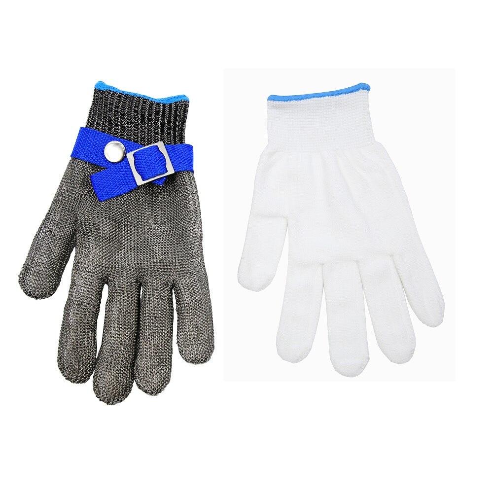 安全手袋 10 ピース/ロットステンレスカット耐性プルーフ手袋肉屋機器ツール食肉加工通気性手袋サイズ L  グループ上の セキュリティ & プロテクション からの 安全手袋 の中 1