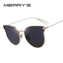 MERRY'S Fashion Sunglasses Women Classic Brand Designer Sun glasses Coating Mirror Flat Panel Lens sunglass Shades S'7842