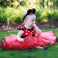 Quần áo trẻ em Mẫu Giáo của trẻ em hiệu suất Ngày ăn mặc cô gái Minnie mouse net sợi váy dễ thương công chúa poodle dress