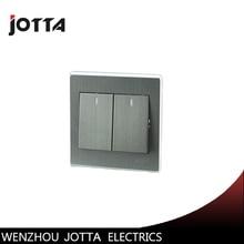 Luxury Wall Switch Panel, Light Switch 2 Gang 2 Way Push Button LED Indicator 16A,110~250V, 220V цена 2017