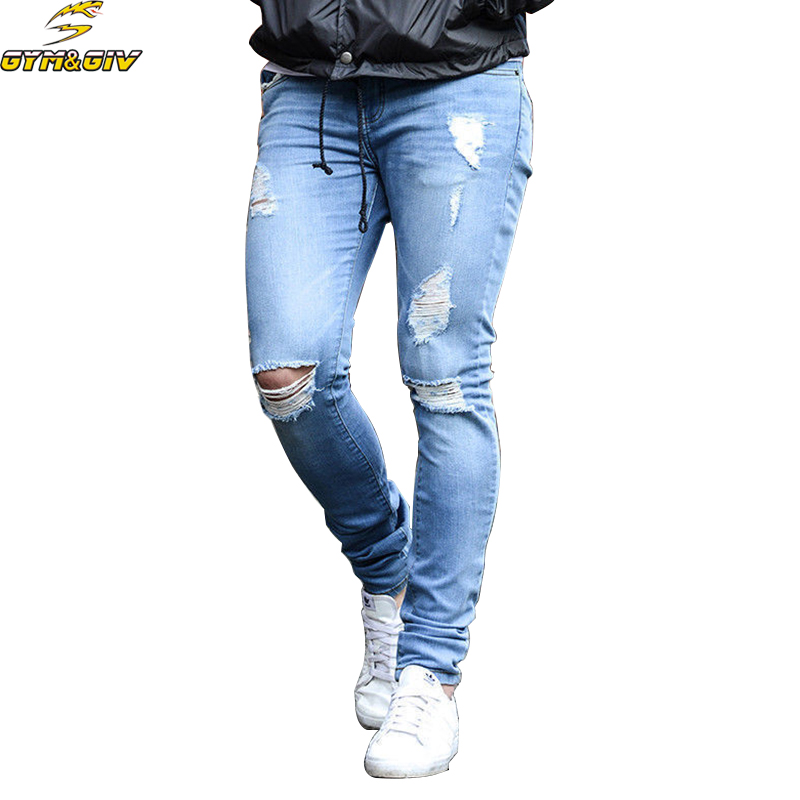 2018 New Fashion summer Mens Casual Stretch Skinny Jeans Trousers Tight thin Pants Solid Colors