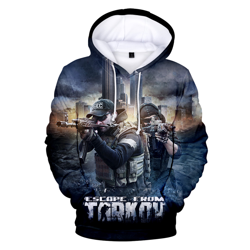 Hot Sale Game Escape from Tarkov 3D Printed Hoodies Boy/Girl Classic Long Sleeve Hooded Sweatshirt High Quality streetwear Tops 1