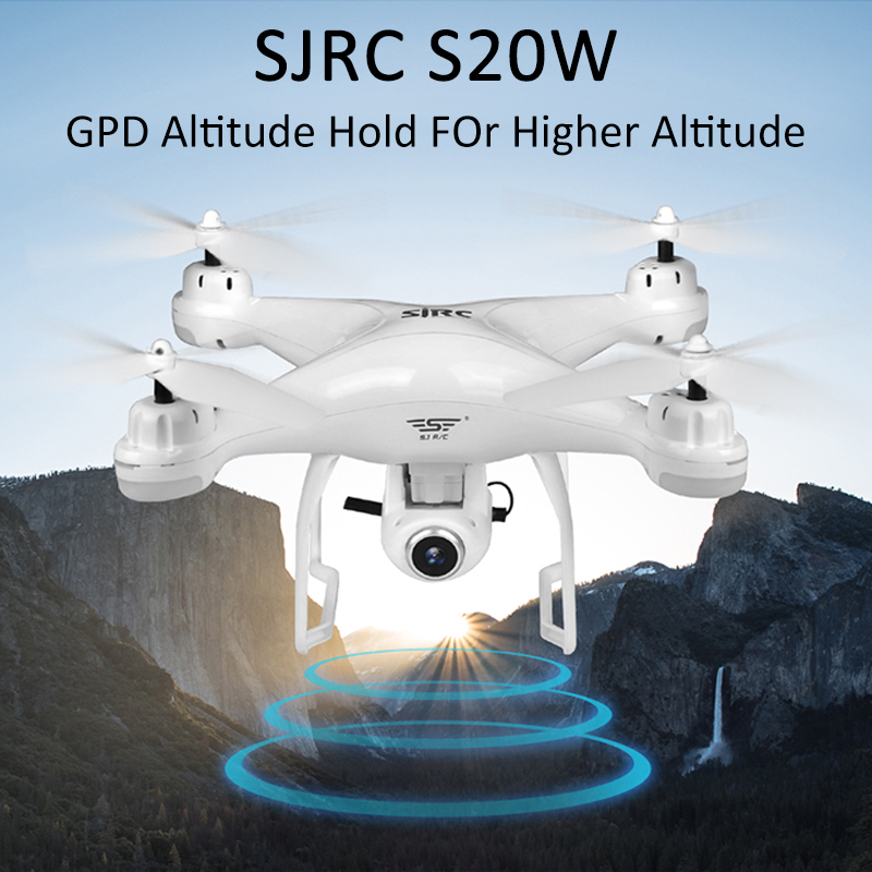 Camera Rc Drone SJRC S20W Double Quadcopter FPV WIFI Follow with 1080p/720p Wide-Angle