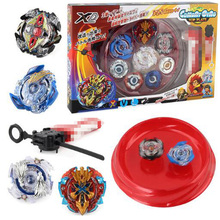 4pcs/set Beyblade arena stadium Metal Fusion 4D Battle Top Fury Masters launcher grip children christmas toy