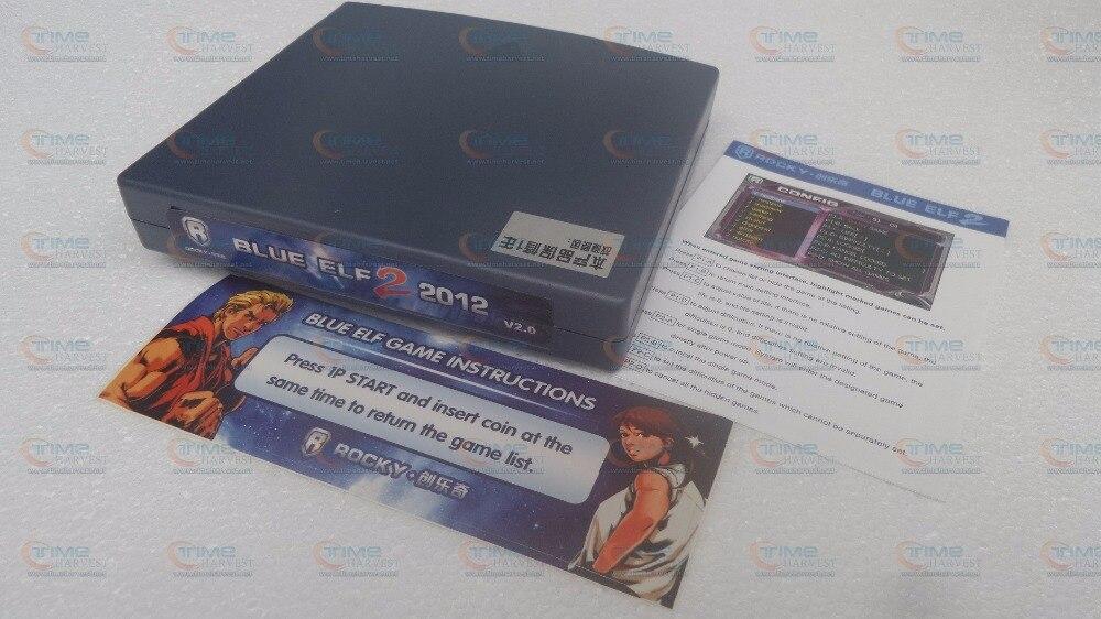 3 pièces bleu ELF 2 PCB 310 en 1 bleu Elf 2009 plateau de jeu d'arcade 310 jeux horizontaux 28 broches jamma connecteur pour armoire d'arcade