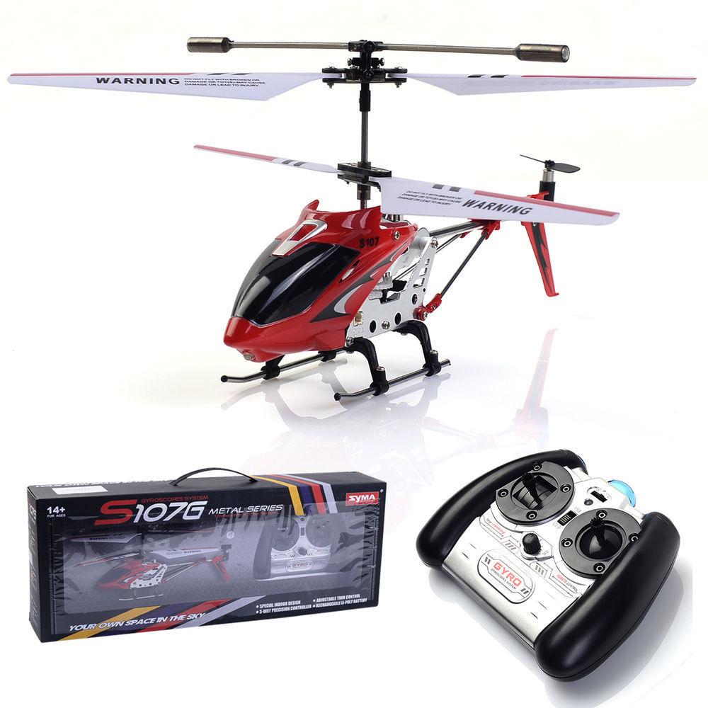 2017 Nuovo di Zecca Syma S107G Originale 3.5CH Elicottero RC con giroscopio Radio giocattoli di telecomando della lega del Metallo fusoliera R/C Elicottero