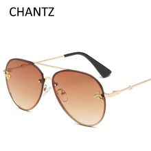 Retro Little Bee Sunglasses Women Brand Designer Fashion Driving Sun Glasses Female Vintage Metal Shades Gafas De Sol Mujer 2800