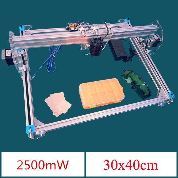 EleksLaser-A3 Pro 2500 mW Do Laser Máquina de Gravura do CNC Impressora A Laser
