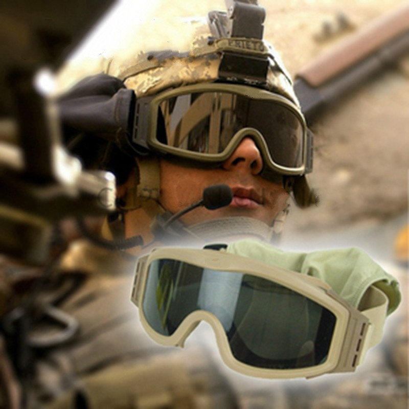 Hunting mens Airsoft Tactical Goggles USMC Tactical Sunglasses Glasses Army Paintball Goggles